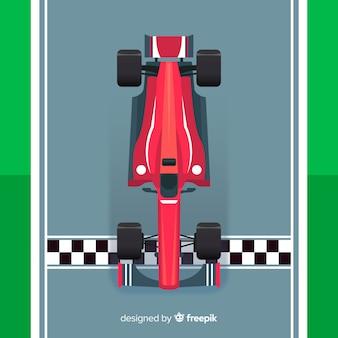 Fórmula moderna 1 carro de corrida na pole position