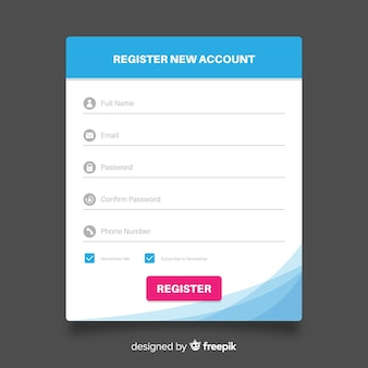 Formulário de inscrição online