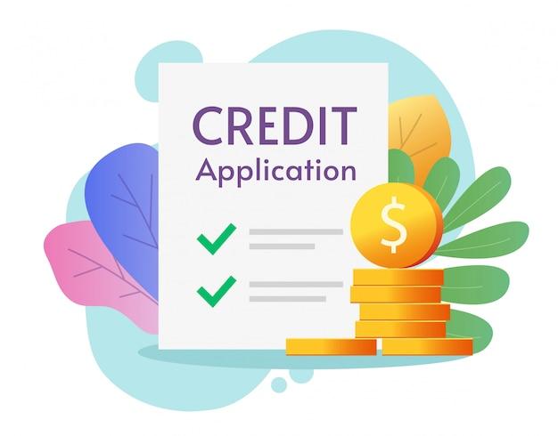 Formulário de pedido de crédito