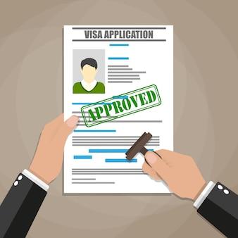 Formulário de pedido de visto