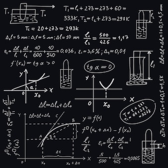 Fórmulas científicas na lousa