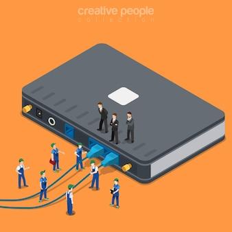 Fornecimento de conexão de rede local de serviço de internet
