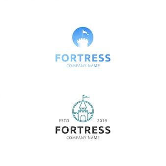 Fortaleza premium de logotipo