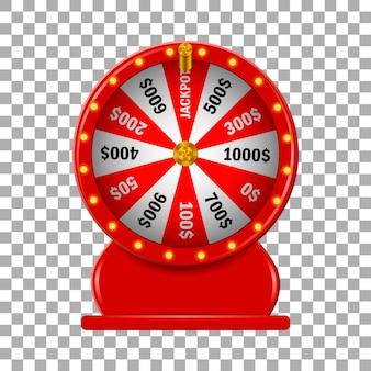 Fortuna de roda vermelha em fundo isolado