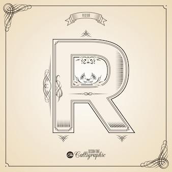 Fotn caligráfico com beira, elementos do quadro e símbolos do projeto do convite.