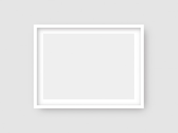 Foto de parede retangular ot maquete de moldura