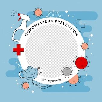 Foto do perfil coronavírus moldura do facebook