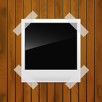 Foto em uma superfície de madeira