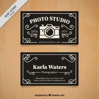 Foto estúdio cartão no estilo retro