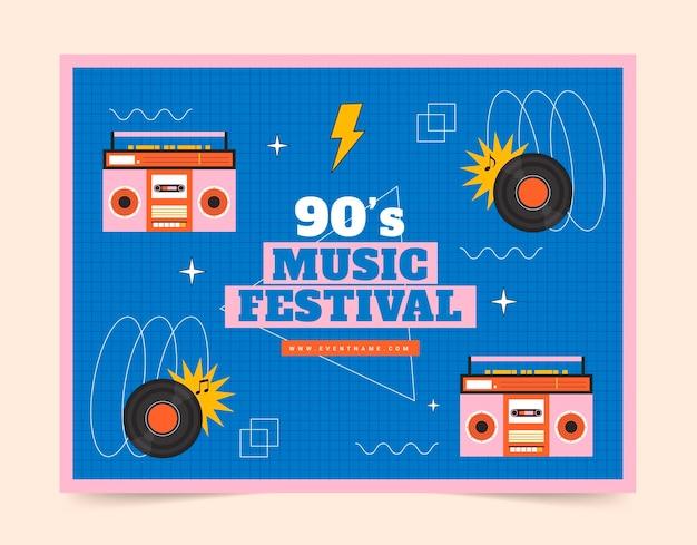 Foto nostálgica do festival de música nostálgica dos anos 90