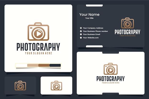 Fotografia, câmera, inspiração para o design de logotipo