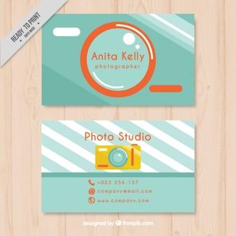 Fotografia cartão de visita, estilo plano