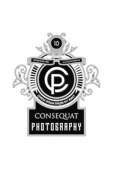 Fotografia de logotipo monograma cp