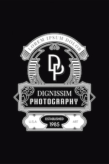 Fotografia do logotipo do monograma dp