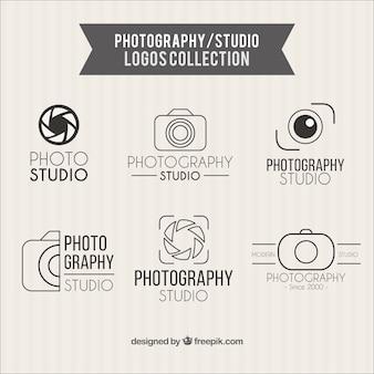 Fotografia logos estúdio coleção