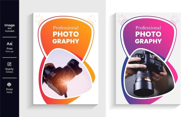 Fotografia negócios brochura capa modelo de design layout moderno