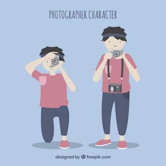 Fotógrafo character pacote