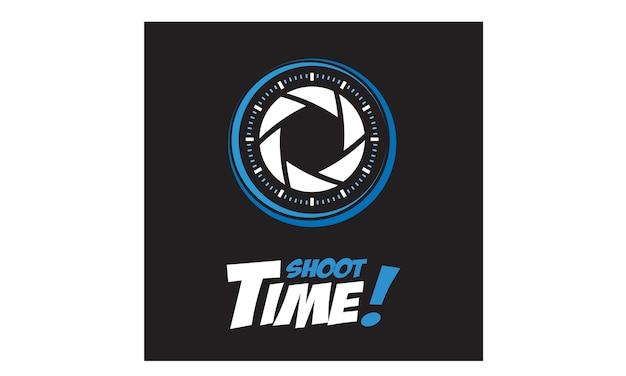 Fotógrafo e tempo logotipo design inspiração