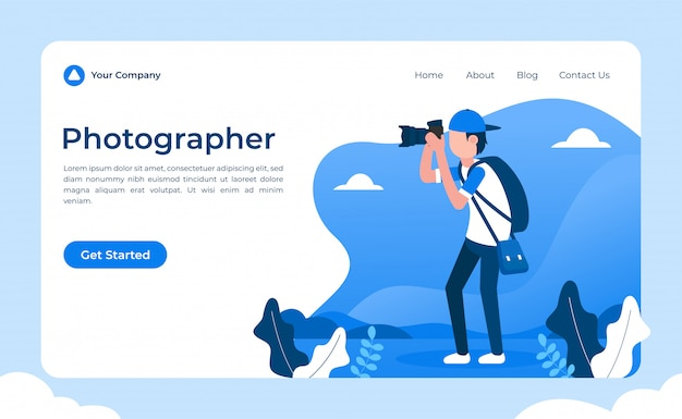 Fotógrafo landing page