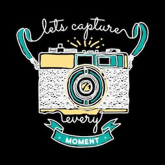 Fotógrafo tipografia ilustração arte design