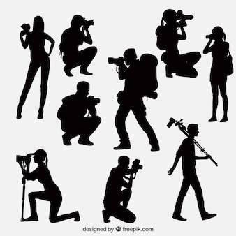 Fotógrafos em situações diferentes
