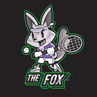 Fox animal character mascote de logotipo de esportes