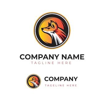 Fox circle logotype template empresa