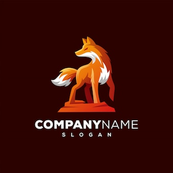 Fox design de logotipo pronto para uso