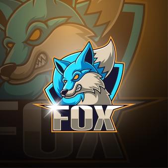 Fox esport mascote logotipo