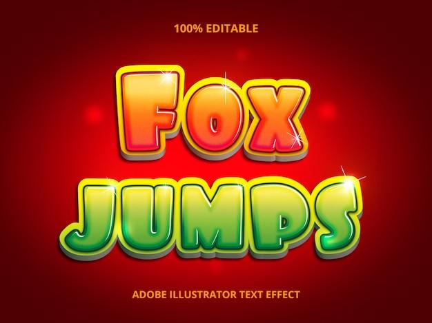 Fox jumps text - efeito de fonte editável