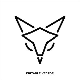 Fox line logo design fox icon symbol logo illustration gráficos vetoriais perfeitos em pixels