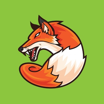 Fox logo mascot agressivo