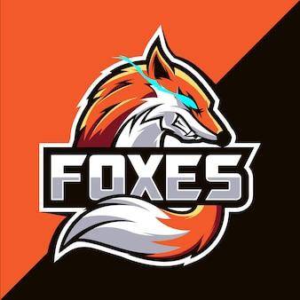 Fox mascote esport logotipo