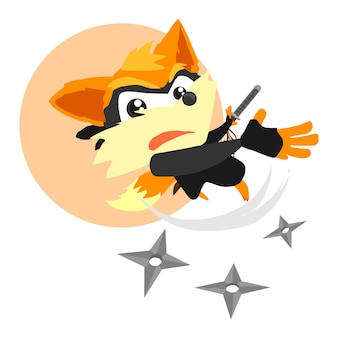 Fox ninja cartoon