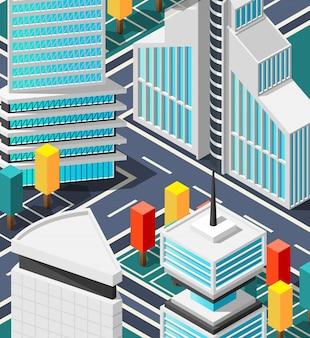 Fragmento da paisagem futurista da cidade