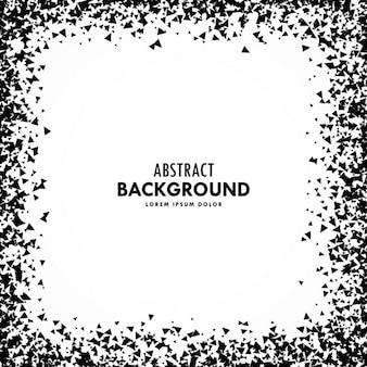 Frame abstrato do grunge feita com partículas de detritos