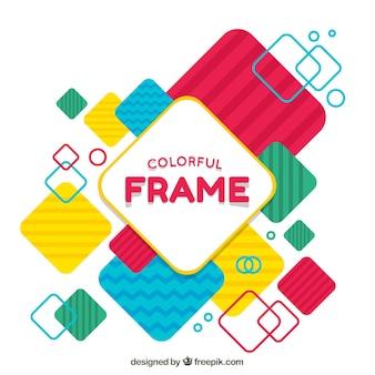 Frame colorido e plano