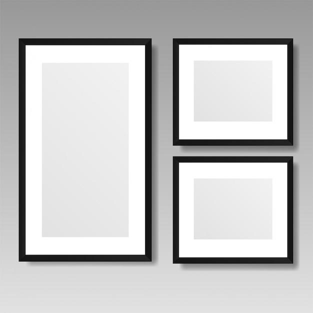 Frame de retrato realista isolado no fundo branco.