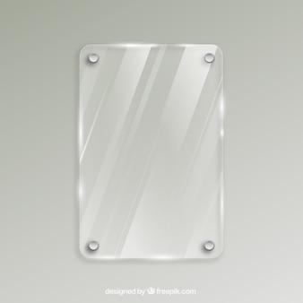 Frame de vidro em estilo realista