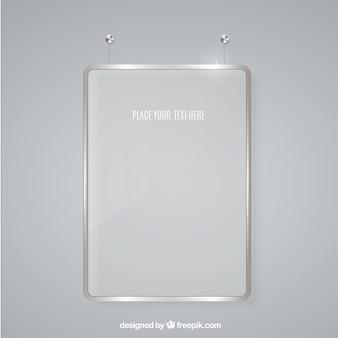 Frame de vidro para a mensagem