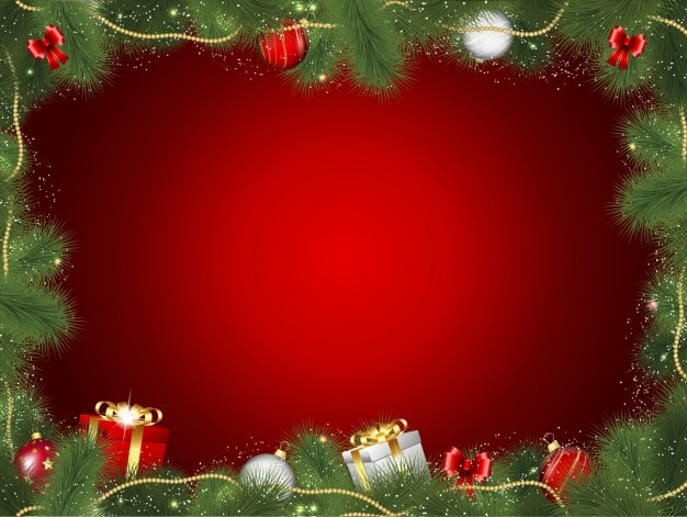 Frame decorativo do natal com presentes
