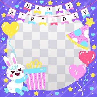 Frame festivo do facebook do aniversário