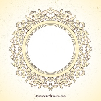 Frame redondo no estilo ornamental