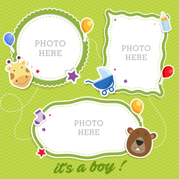 Frames bonitos da foto do bebê