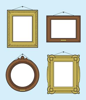 Frames de retrato de suspensão ornamentado