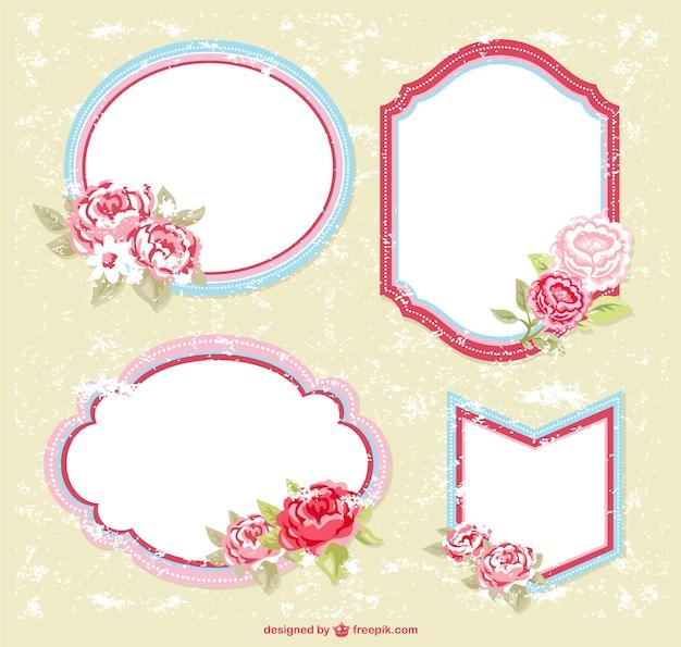 Frames florais livres para download