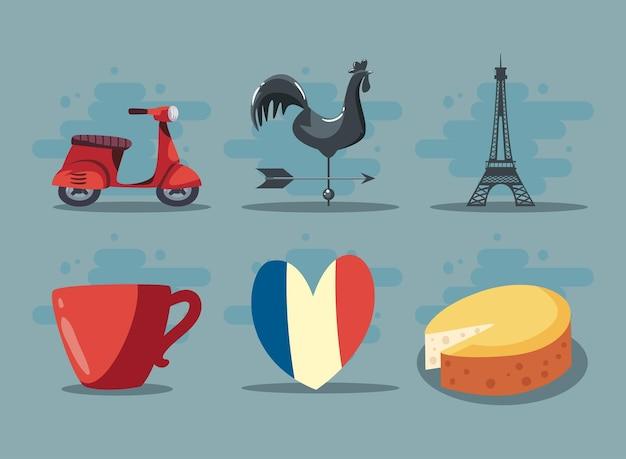 França definiu seis ícones
