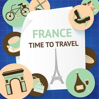 França tempo para viajar paris