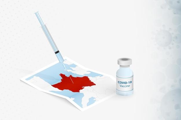 França vacinação, injeção com a vacina covid-19 no mapa da frança.