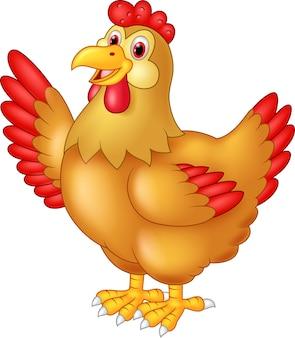 Frango galinha acenando a mão